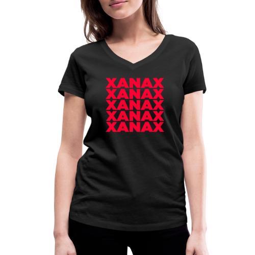 XANAX - R - T-shirt ecologica da donna con scollo a V di Stanley & Stella