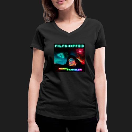 TiltShifted - Neon Traveler - Stanley & Stellan naisten v-aukkoinen luomu-T-paita