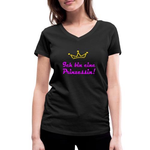 ICH BIN EINE PRINZESSIN - Frauen Bio-T-Shirt mit V-Ausschnitt von Stanley & Stella