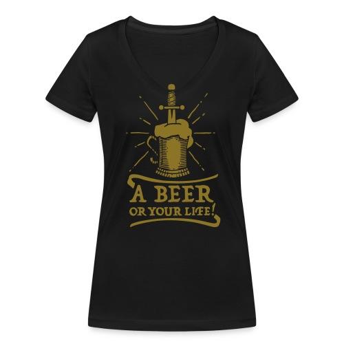 la bière ou la vie - T-shirt bio col V Stanley & Stella Femme