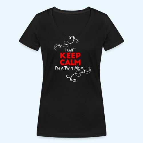 I Can't Keep Calm (voor donkere stof) - Vrouwen bio T-shirt met V-hals van Stanley & Stella