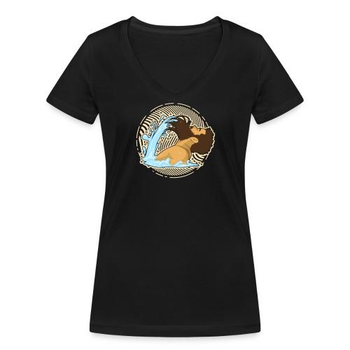 Bart Welle - lustiges Geschenk für Männer mit Bart - Frauen Bio-T-Shirt mit V-Ausschnitt von Stanley & Stella