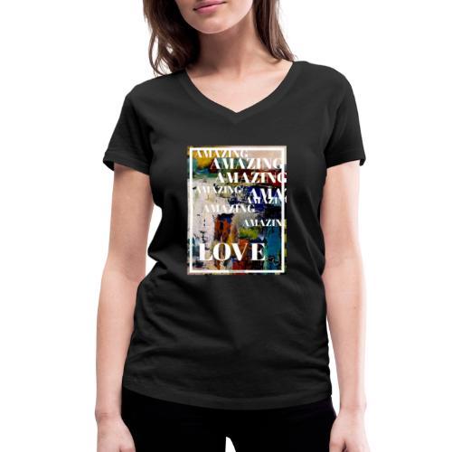 Amazing Love - Ekologisk T-shirt med V-ringning dam från Stanley & Stella