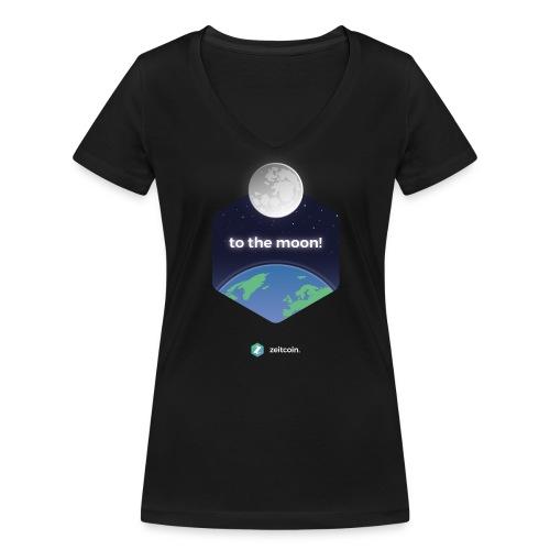 zeit earthrise - Women's Organic V-Neck T-Shirt by Stanley & Stella