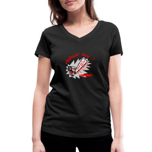 t shirt jalouse moi amour possessif humour FS - T-shirt bio col V Stanley & Stella Femme