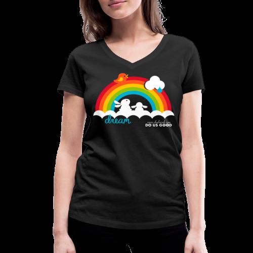 DREAM - Stanley & Stellan naisten v-aukkoinen luomu-T-paita