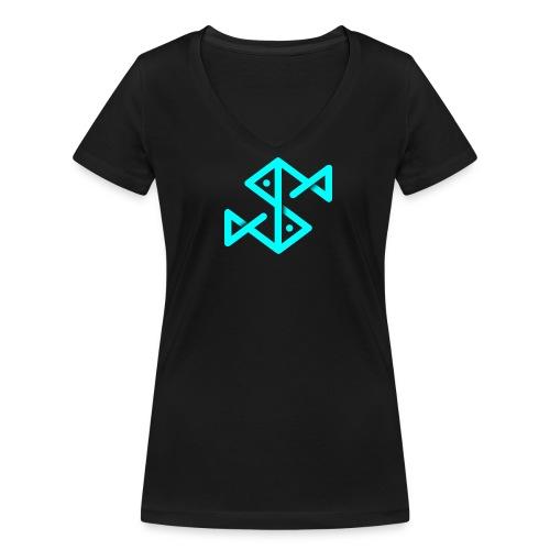 Blue Fish - Frauen Bio-T-Shirt mit V-Ausschnitt von Stanley & Stella