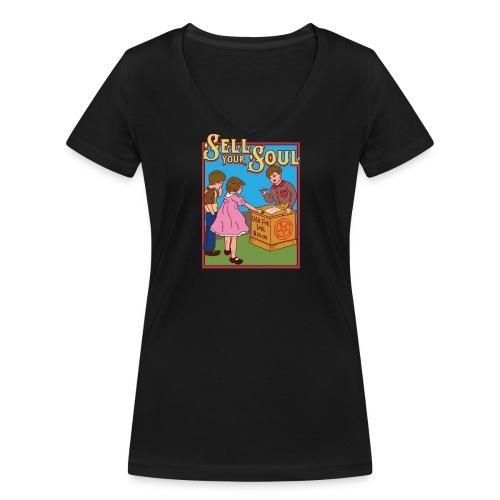 Sell your soul - Verkauf Deine Seele - Frauen Bio-T-Shirt mit V-Ausschnitt von Stanley & Stella