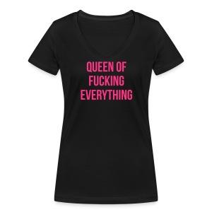 Queen of f***** everything - Frauen Bio-T-Shirt mit V-Ausschnitt von Stanley & Stella