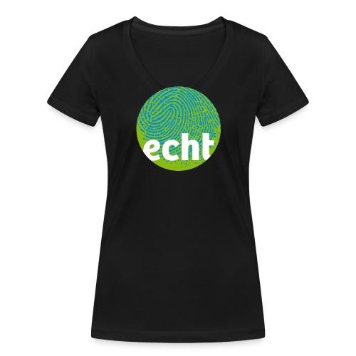echt.cloppenburg Stadtmarke Grün - Frauen Bio-T-Shirt mit V-Ausschnitt von Stanley & Stella