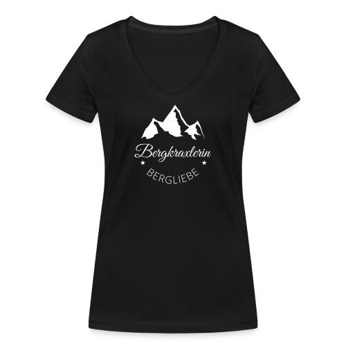 Bergkraxlerin - Frauen Bio-T-Shirt mit V-Ausschnitt von Stanley & Stella