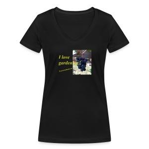 Weintraube - I love gardening - Frauen Bio-T-Shirt mit V-Ausschnitt von Stanley & Stella