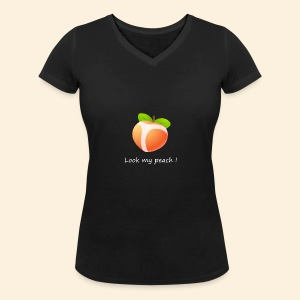 Look my peach in white - Women's Organic V-Neck T-Shirt by Stanley & Stella