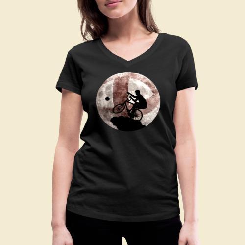 Radball | Cycle Ball Moon - Frauen Bio-T-Shirt mit V-Ausschnitt von Stanley & Stella