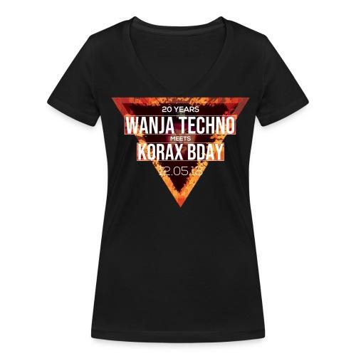 Wanja & Korax BDay Shirt - Frauen Bio-T-Shirt mit V-Ausschnitt von Stanley & Stella