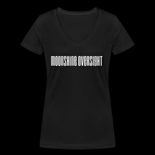 moonshine oversight blanc - T-shirt bio col V Stanley & Stella Femme