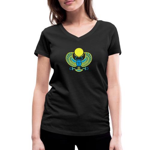 Geflügelter Skarabäus - Frauen Bio-T-Shirt mit V-Ausschnitt von Stanley & Stella