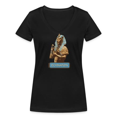 Echnaton – Sonnenkönig von Ägypten - Frauen Bio-T-Shirt mit V-Ausschnitt von Stanley & Stella