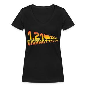 1.21 Gigawatts - Frauen Bio-T-Shirt mit V-Ausschnitt von Stanley & Stella