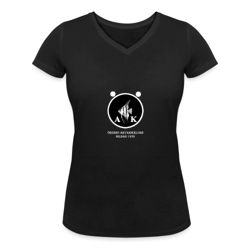 oeakloggamedtextvitaprickar - Ekologisk T-shirt med V-ringning dam från Stanley & Stella