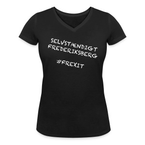 Selvstændigt Frederiksberg #FREXIT - Økologisk Stanley & Stella T-shirt med V-udskæring til damer