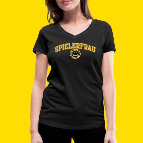 Puckbusters Spielerfrau Design - Frauen Bio-T-Shirt mit V-Ausschnitt von Stanley & Stella