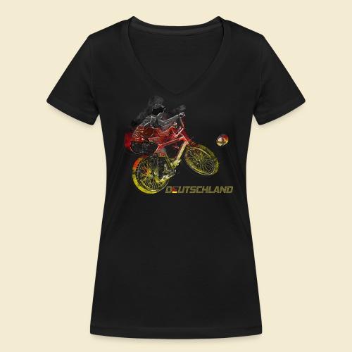 Radball | Deutschland - Frauen Bio-T-Shirt mit V-Ausschnitt von Stanley & Stella