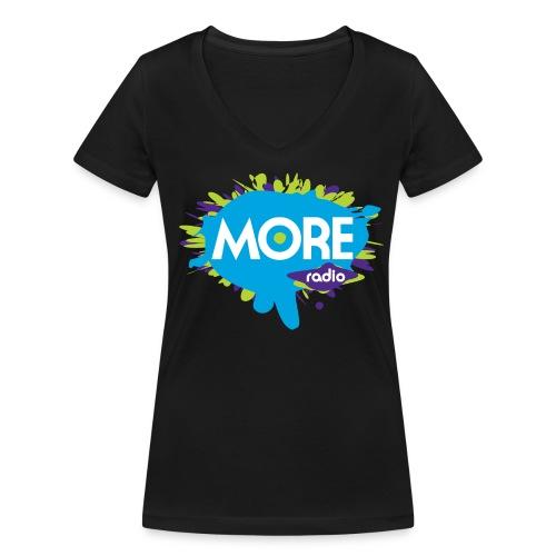 More Radio 2017 - Vrouwen bio T-shirt met V-hals van Stanley & Stella