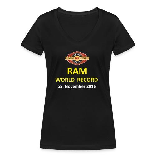 RWR gelb mit Datum (weiß) - Frauen Bio-T-Shirt mit V-Ausschnitt von Stanley & Stella