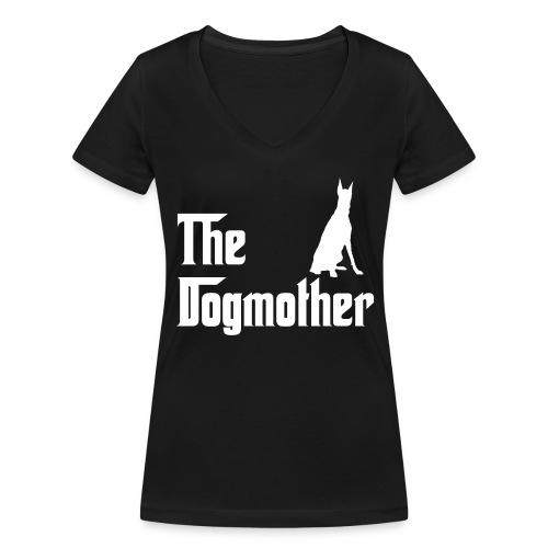The Dogmother white dobermann - Frauen Bio-T-Shirt mit V-Ausschnitt von Stanley & Stella