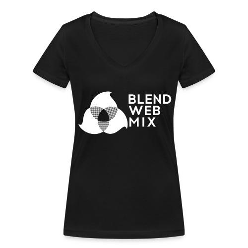 logo bland - T-shirt bio col V Stanley & Stella Femme