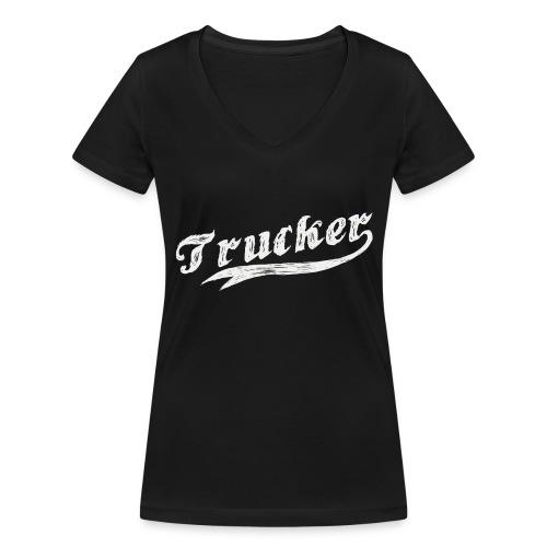 Trucker - Frauen Bio-T-Shirt mit V-Ausschnitt von Stanley & Stella