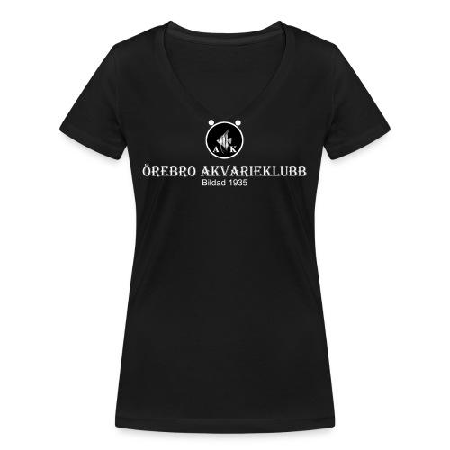 nyloggatext2medvitaprickar - Ekologisk T-shirt med V-ringning dam från Stanley & Stella