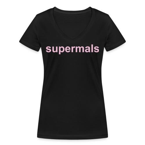 Supermals - Vrouwen bio T-shirt met V-hals van Stanley & Stella