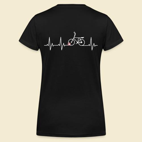 Radball | Heart Monitor White - Frauen Bio-T-Shirt mit V-Ausschnitt von Stanley & Stella