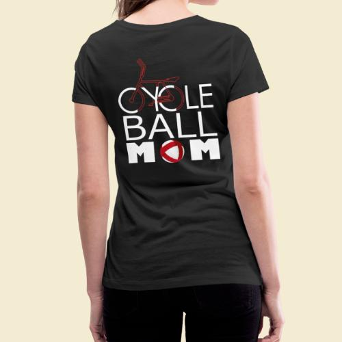 Radball | Cycle Ball Mom - Frauen Bio-T-Shirt mit V-Ausschnitt von Stanley & Stella