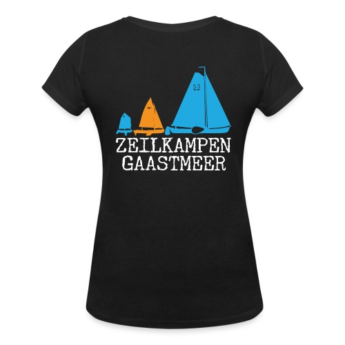 ZKG Wit - Vrouwen bio T-shirt met V-hals van Stanley & Stella