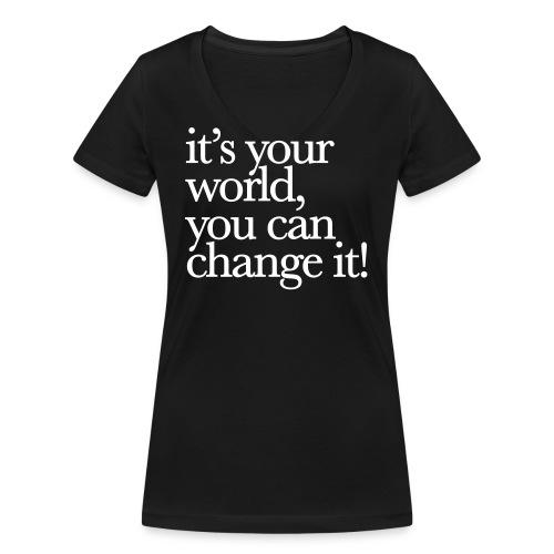(yourworld) - Frauen Bio-T-Shirt mit V-Ausschnitt von Stanley & Stella