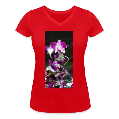 Orchid - Women's Organic V-Neck T-Shirt by Stanley & Stella
