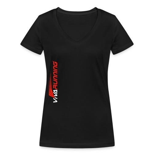 TIENDA VIVA RUNNING - Camiseta ecológica mujer con cuello de pico de Stanley & Stella