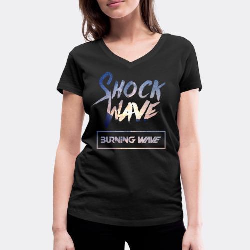Burning Wave - Shock Wave - T-shirt bio col V Stanley & Stella Femme