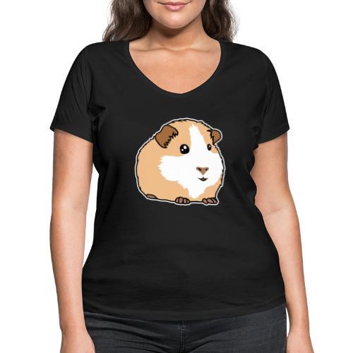 Meerschweinchen, Hausmeerschweinchen, Tier, kawaii - Frauen Bio-T-Shirt mit V-Ausschnitt von Stanley & Stella