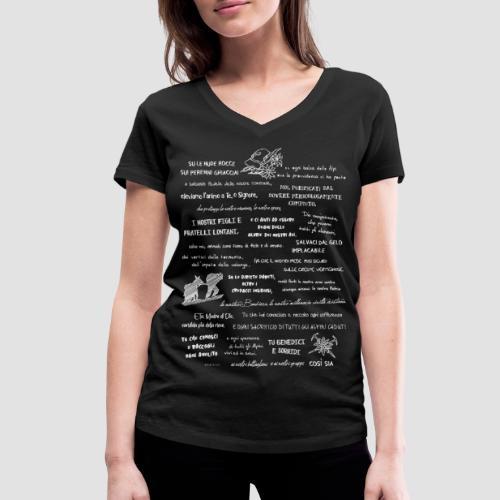 Alpini preghiera - T-shirt ecologica da donna con scollo a V di Stanley & Stella
