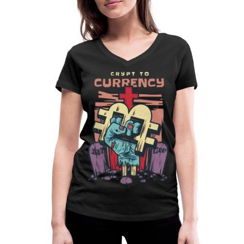 Bitcoin und CrypToCurrency - Frauen Bio-T-Shirt mit V-Ausschnitt von Stanley & Stella