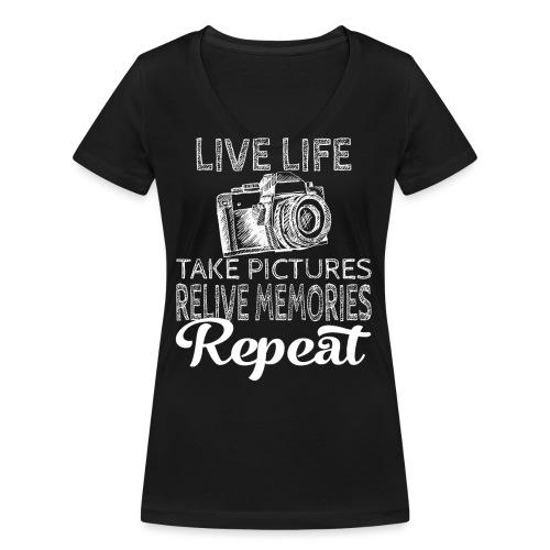 Take Pictures Skizzierter Fotoapparat Fotografie - Frauen Bio-T-Shirt mit V-Ausschnitt von Stanley & Stella