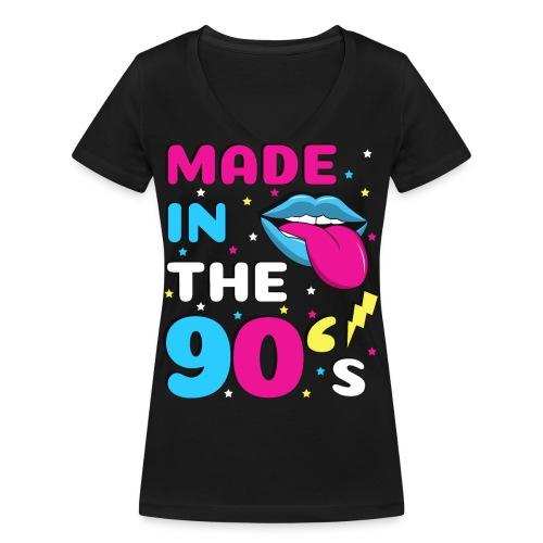 90er Jahre Party Feiern Mottoparty 90s - Frauen Bio-T-Shirt mit V-Ausschnitt von Stanley & Stella