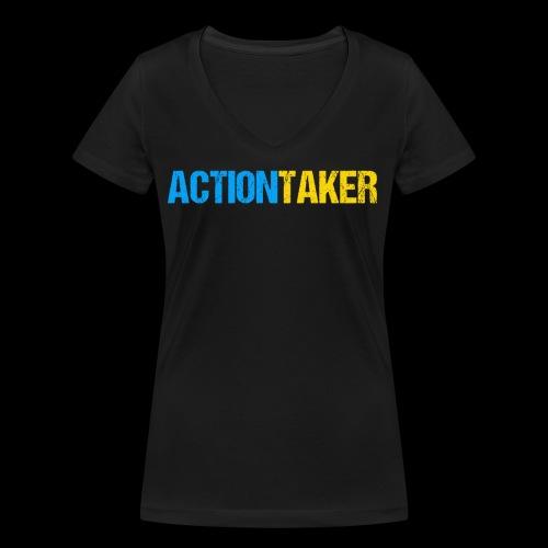 Actiontaker - Frauen Bio-T-Shirt mit V-Ausschnitt von Stanley & Stella
