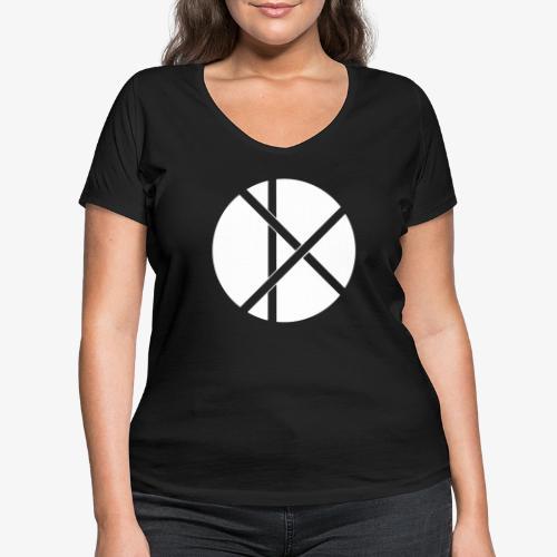 Don Logo - valkoinen - Stanley & Stellan naisten v-aukkoinen luomu-T-paita