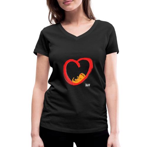 LYD 0003 04 KittyLove - Frauen Bio-T-Shirt mit V-Ausschnitt von Stanley & Stella