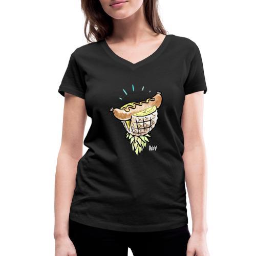 Stef 0005 00 tropical bratwurst - Frauen Bio-T-Shirt mit V-Ausschnitt von Stanley & Stella